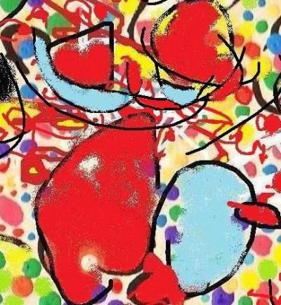 Pintura por Leo Lobos, 2009.